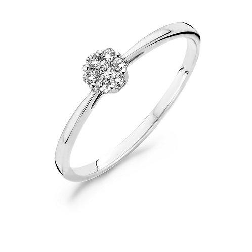 1610WDI Blush ring Diamonds witgoud rozet 0,11ct