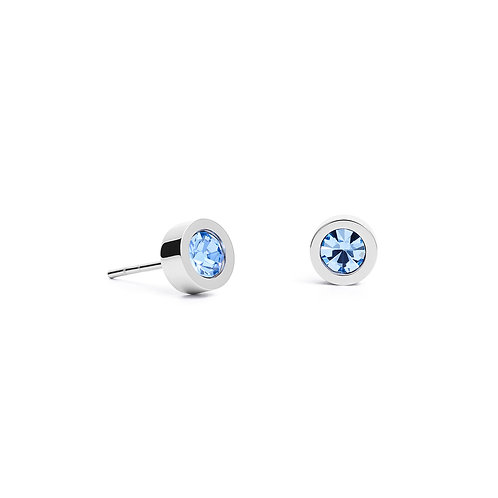 0228-21-0741 Coeur de Lion oorstekers Light Blue Silver