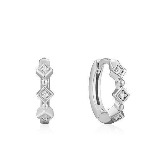 Ania Haie E023-01H Sparkle hoop earrings