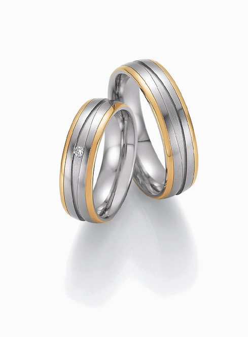 88-01830-01840 Collection Ruesch White Style Steel & Gold Brilliant