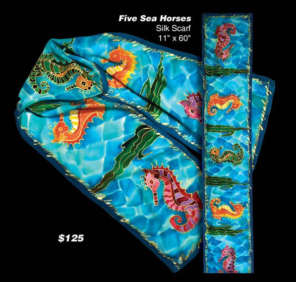 Five Seahorses