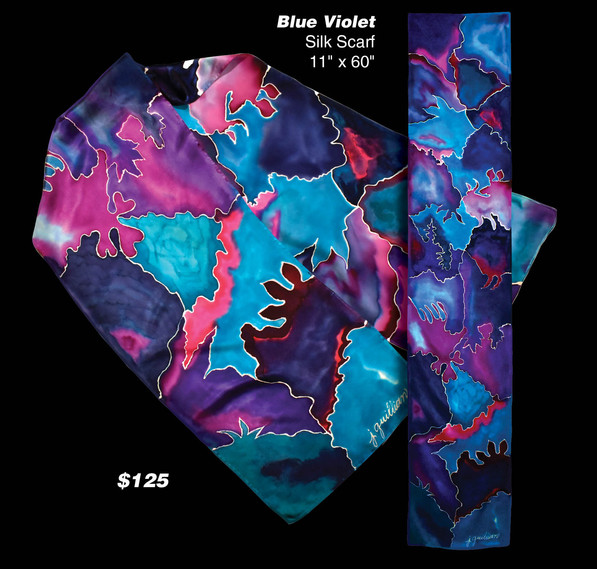 Blue and Violet Abstract
