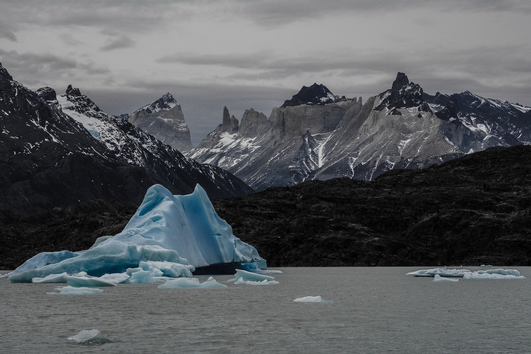 Icebergs and Mountains in Patagonia