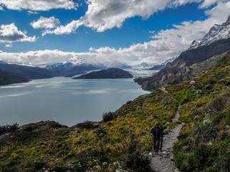 Leaving Grey Glacier behind along the W-Trek
