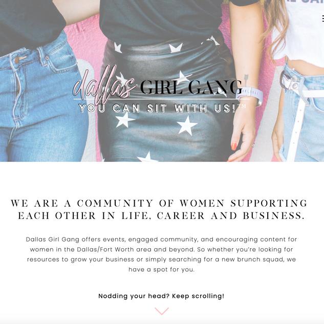 Homepage, Dallas Girl Gang