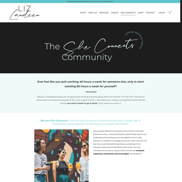 Sales Page, She Connects Community