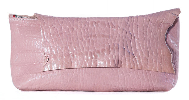 Pink Lambskin Clutch
