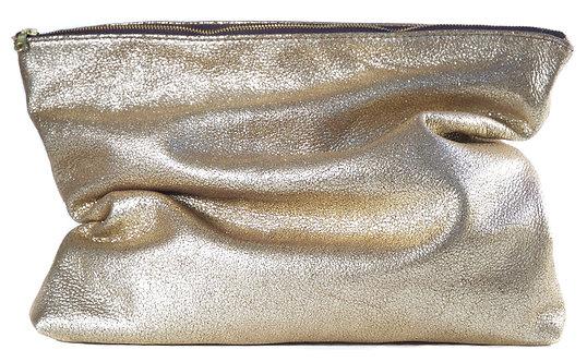 Gold Crackle Clutch
