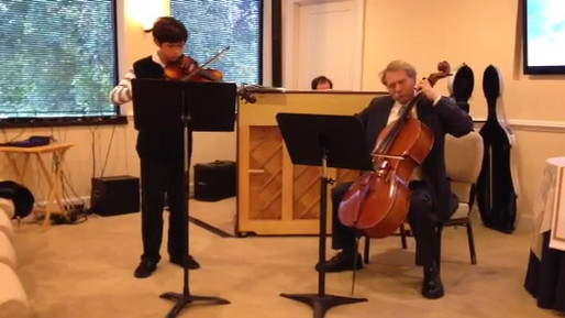 """Aaron Copland's """"Simple Gifts"""". Violin and Cello Duo Performance with piano accompaniment."""