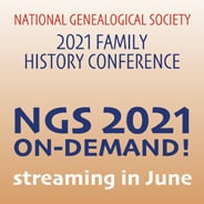 NATIONAL GENEALOGY SOCIETY CONFERENCE IS COMING UP