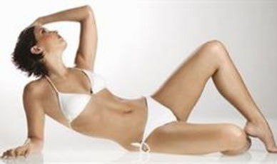 Areas treatable with laser hair removal or IPL.