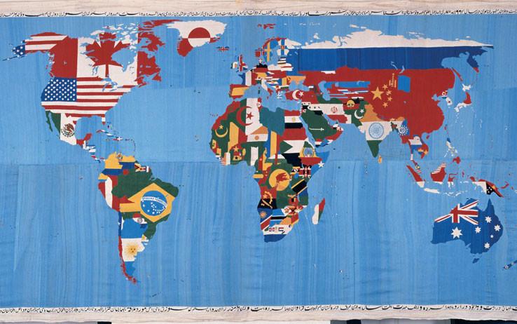 """Alighiero Boetti """"Mappa 1989"""" presso il MART"""