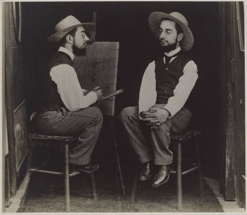 Maurice Guibert, «Henri de Toulouse-Lautrec artista e modello», ca 1900, Philadelphia Museum of Art: Gift of Henry P. McIlhenny, 1982. Photo Courtesy: The Metropolitan Museum of Art