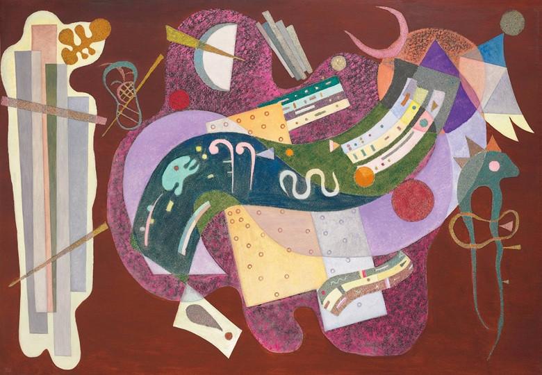 """Wassily Kandinsky """"Rigide et Courbe"""" - madeaertis.org"""