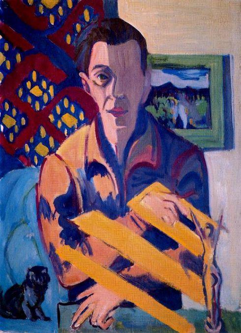 "Ernst Ludwig Kirchner (1880, Aschaffenburg - 1938, Davos), ""Autoritratto malato"" / ""Self-portrait"", 1931 - madeartis.org"
