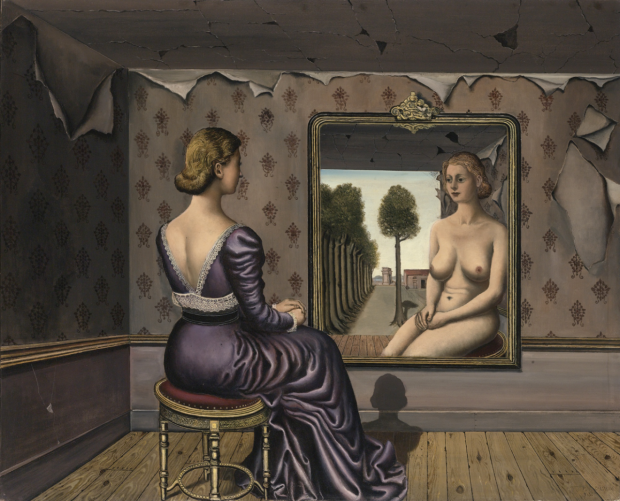 """Paul Delvaux  """"Le miroir"""" - madeartis.org"""