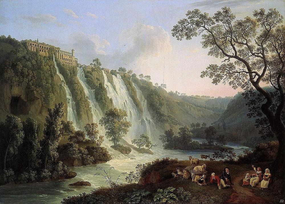 Jakob Philipp Hackert Villa di Mecenate a Tivoli