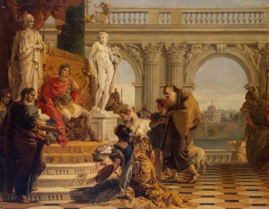 Giovanbattista Tiepolo, Mecenate presenta le Arti Liberali ad Augusto