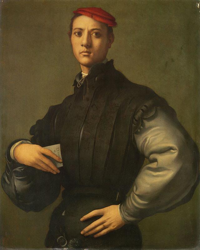 Pontromo Portrait of a Young Man in a Red Cap - iamcontemporaryart.com