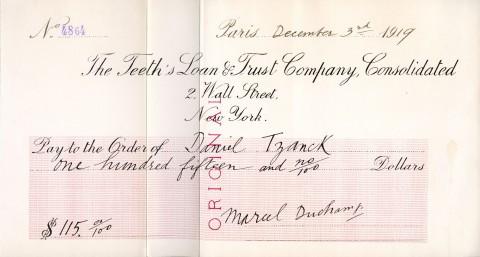 Autentica originale di Macel Duchamp