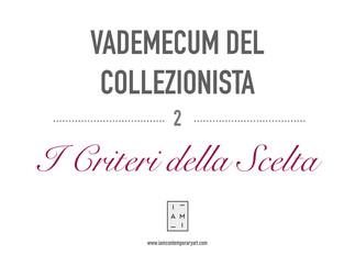 2) VADEMECUM DEL COLLEZIONISTA - I CRITERI DELLA SCELTA