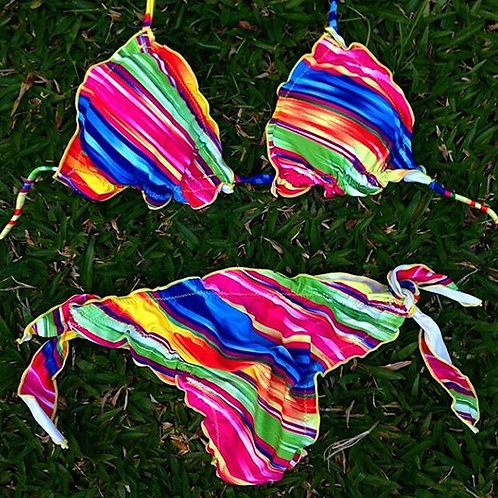 calcinha bikíni arco íris