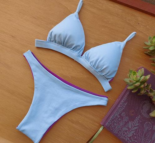 calcinha bikini me gusta dupla face azul claro