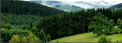 Panorama uitzicht Berghotel Lenneplätze Winterberg