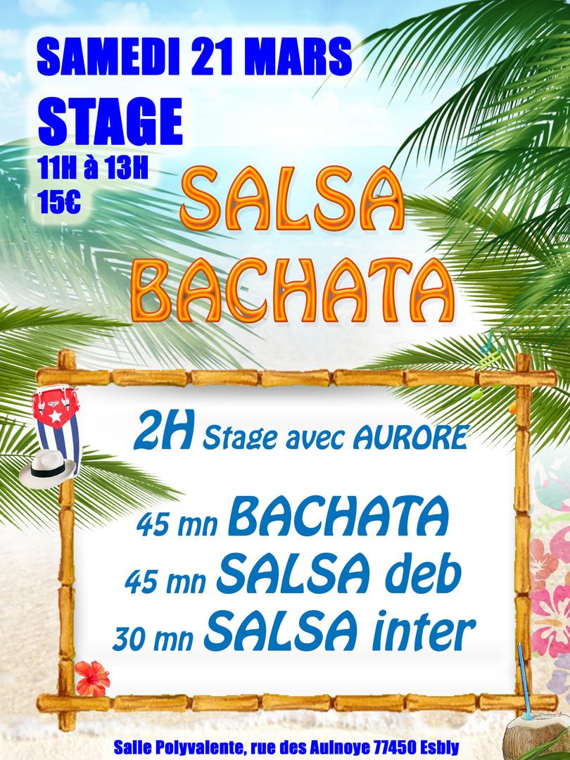 STAGE Salsa et Bachata le 21 Mars de 11h à 13h à Esbly avec Aurore Limmois