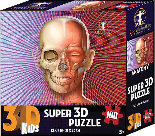 Super 3D Anatomy Puzzle -Skull