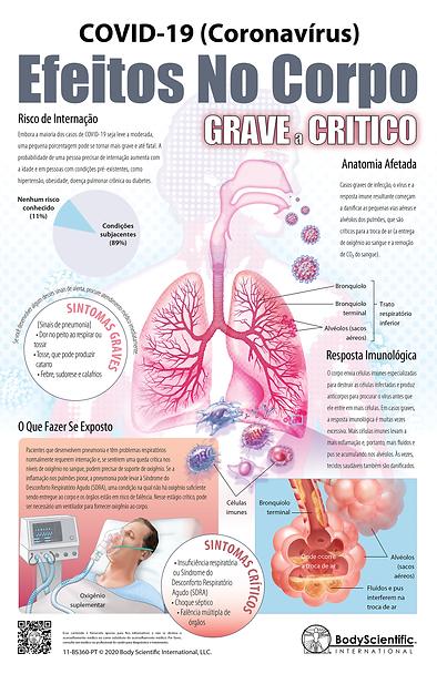 COVID-19 (Coronavírus) Efeitos No Corpo - Grave a Crítico