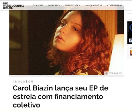 Carol Biazin - The Music Journal Brazil.
