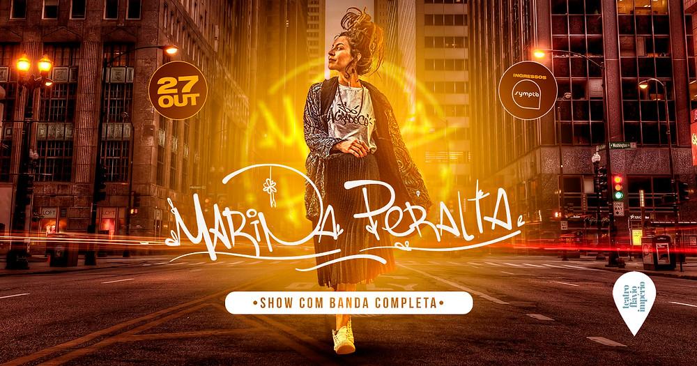 Marina Peralta se apresenta com banda completa em evento gratuito em São Paulo, no Teatro Flávio Império, dia 27/10