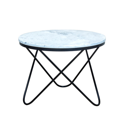 White Marble Parabola Coffee Table - Genuine marble coffee table