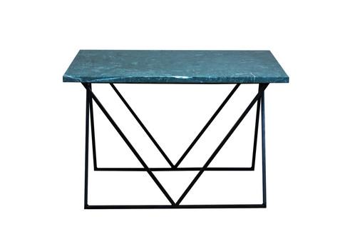 Green Marble Geometric Coffee Table - Genuine marble coffee table