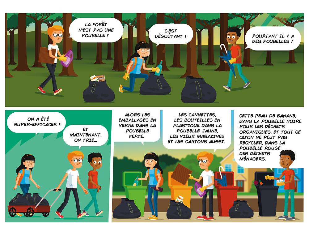 eco, garbage, vector, illustration,