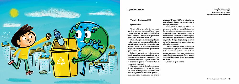 volunteering, illustration, illustrated, book, collaborative, ajudaris, histórias da ajudaris, portugal, voluntariado, carbon, footprint,