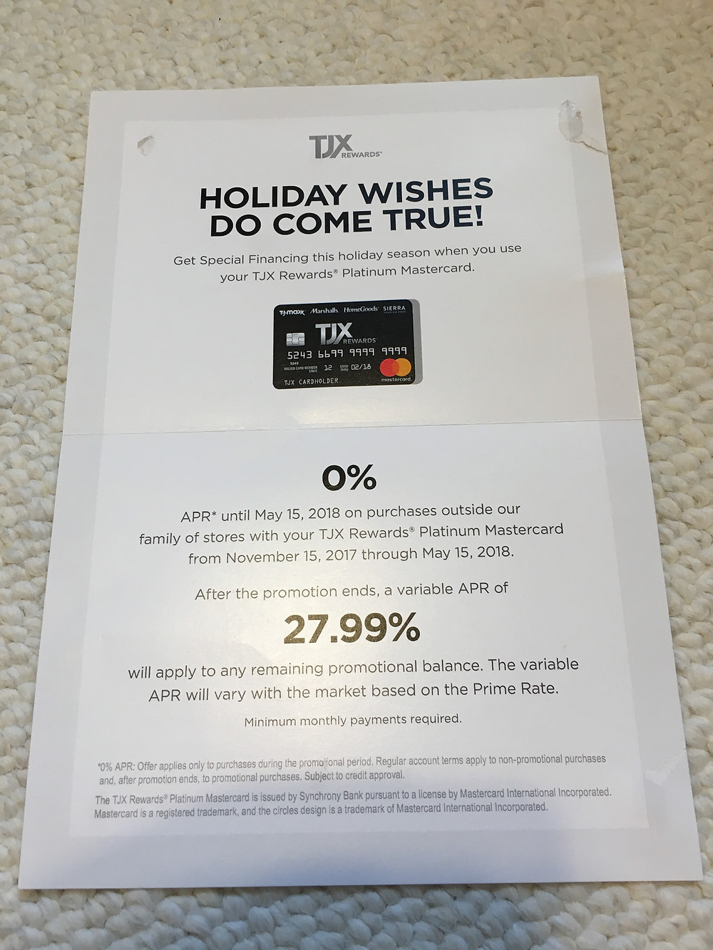 The 0% rate TJ Maxx is offering is tempting but watch out if you don't make the deadline!