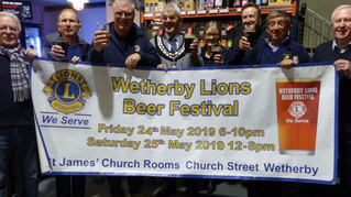 Lions Launch Wetherby Beer Festival
