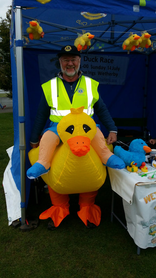 Racegoers at Wetherby went 'quackers'
