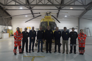 Wetherby Lions visit Yorkshire Air Ambulance