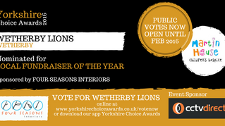 Wetherby Lions recognised in The Yorkshire Choice Awards