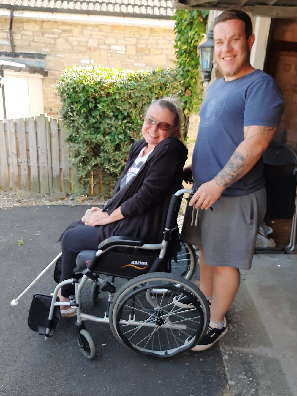 Steve Bonner and his mum Christine