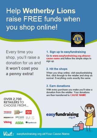Help us raise FREE funds when you shop online...