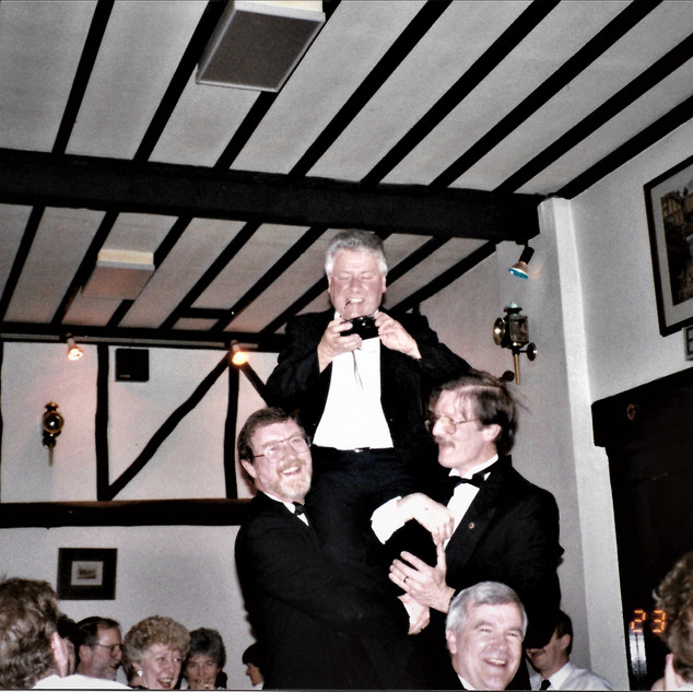 Colin at a Lions 'black-tie' event in 1994