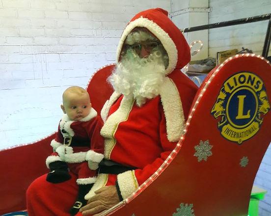 Santa with baby Santa