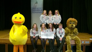 Wetherby High School students selling ducks for Wetherby Duck Race