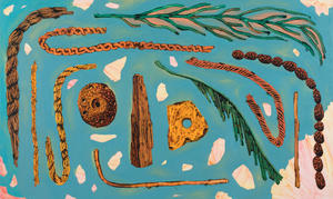 Five Ropes, Two Fronds, Two Strings, Two Stones, Whorl, and Necklace