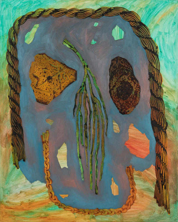 Two Stones, Rope, Frond , and Braid