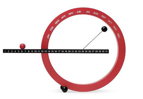 Perpetual Calendar - Small - Black/Red